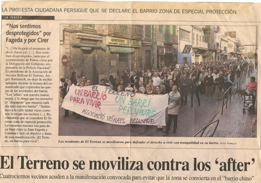 Manifestacion contra after